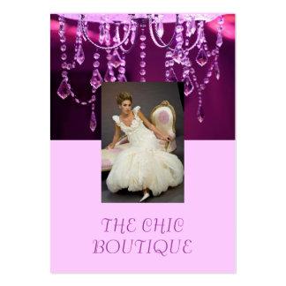 THE Chic Boutique purple chandelier Business Card Templates