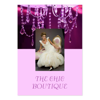 THE Chic Boutique purple chandelier Pack Of Chubby Business Cards