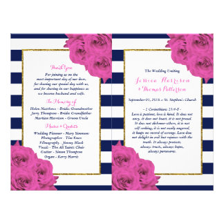 The Chic Modern Luxe Wedding Collection Pink Roses Flyer