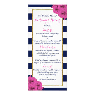 The Chic Modern Luxe Wedding Collection Pink Roses Rack Card