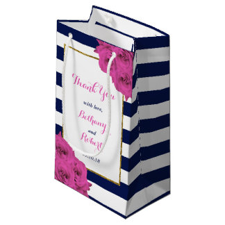 The Chic Modern Luxe Wedding Collection Pink Roses Small Gift Bag
