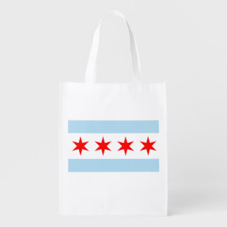 The Chicago Flag Reusable Grocery Bag