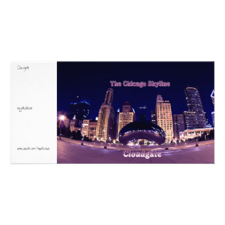 The Chicago Skyline and Cloudgate Custom Photo Card