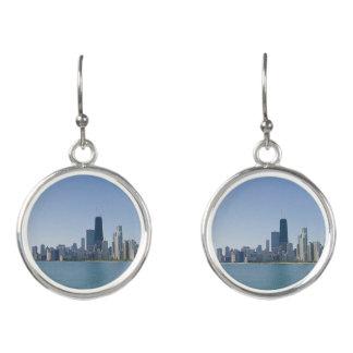 The Chicago Skyline Earrings