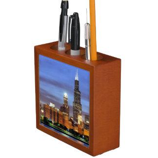 The Chicago skyline from the Adler Planetarium Pencil/Pen Holder