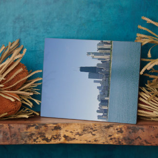 The Chicago skyline Plaque