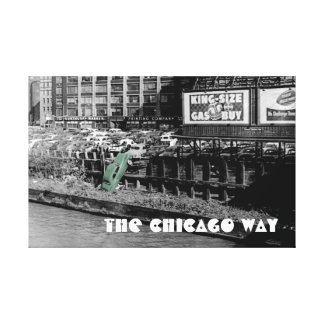 THE CHICAGO WAY ANGRY MOTORIST COLORSPLASH ANTIQUE CANVAS PRINT