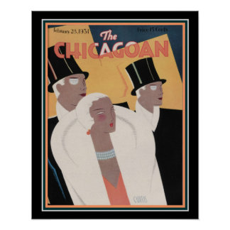 The Chicagoan 1931 Art Deco Cover 16 x 20 Poster