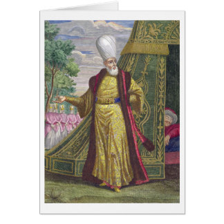 The Chief Janissary, from the 'Recueil d'estampes Card