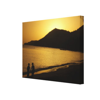 The childhood memories of a sunset canvas print
