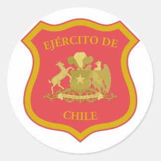 the Chilean Army, Chile Round Sticker