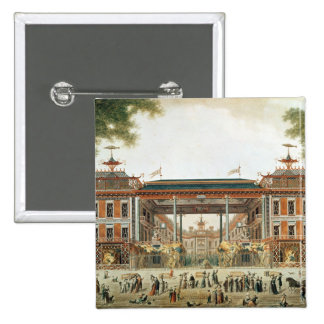The Chinese Baths in Paris, established by Lenoir 15 Cm Square Badge