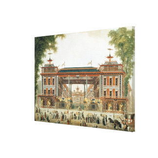 The Chinese Baths in Paris, established by Lenoir Canvas Prints