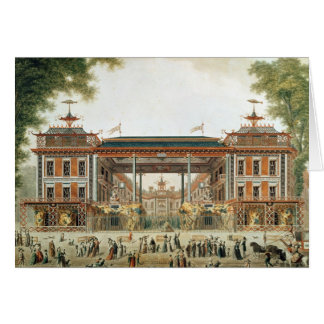 The Chinese Baths in Paris, established by Lenoir Greeting Card