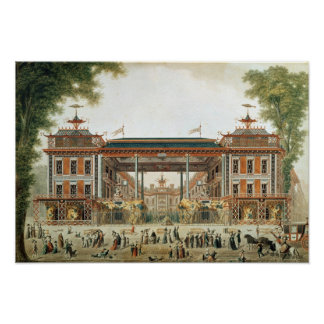 The Chinese Baths in Paris, established by Lenoir Poster