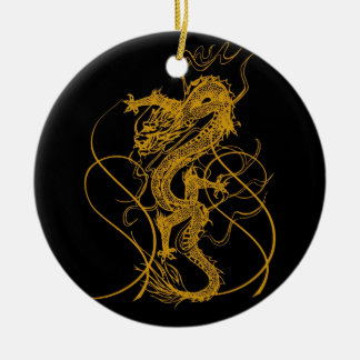 The Chinese year of the dragon 2012 Round Ceramic Decoration