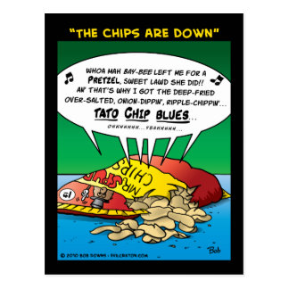 """""""The Chips Are Down"""" Postcard"""