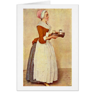 The Chocolate Girl By Jean-Etienne Liotard Card