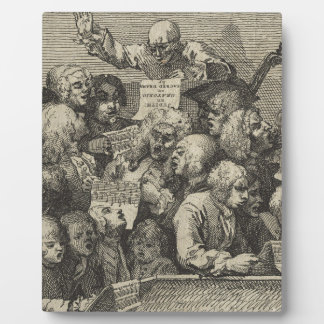 The Chorus by William Hogarth Display Plaques