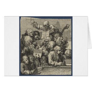 The Chorus by William Hogarth Greeting Card