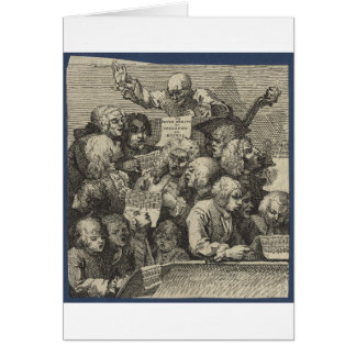 The Chorus by William Hogarth Greeting Card
