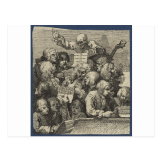 The Chorus by William Hogarth Postcard