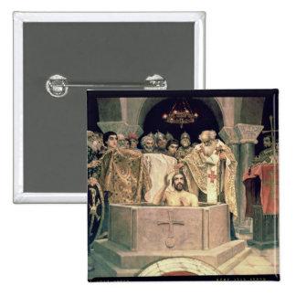 The Christening of Grand Duke Vladimir , 1885-96 15 Cm Square Badge
