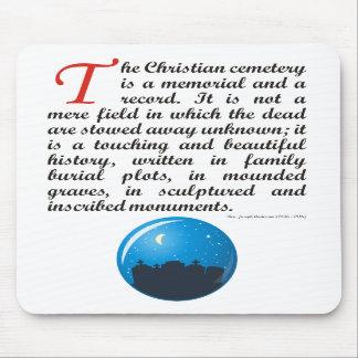 The Christian Cemetery Mousepad