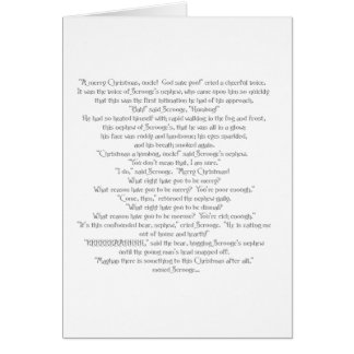 The Christmas Bear by Charles Dickens Card