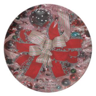 The Christmas Bow Dinner Plate