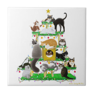 The Christmas Cat Tree Tile