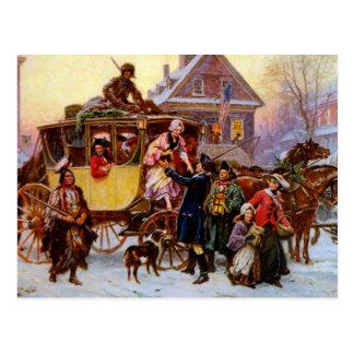 The Christmas Coach Postcard