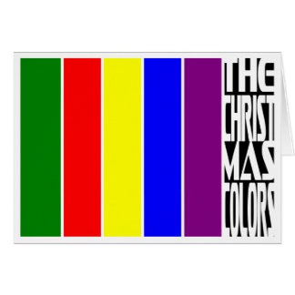 THE CHRISTMAS COLORS... CARD