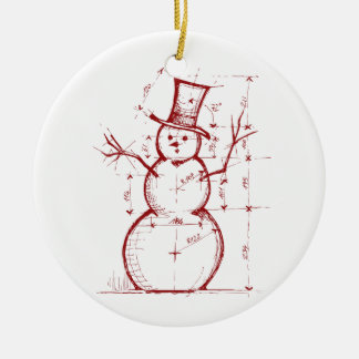 The Christmas Engineer Ceramic Ornament