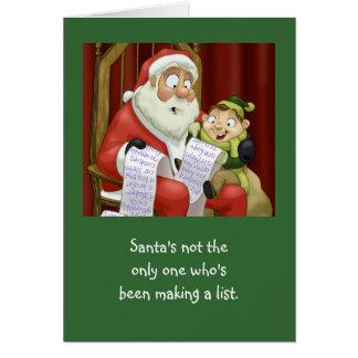 The Christmas List (Card) Greeting Card