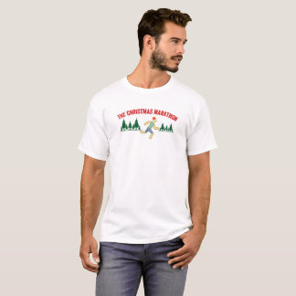 The Christmas Marathon Running Saying T-Shirt