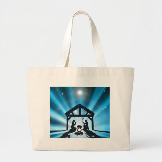 The Christmas Nativity Large Tote Bag