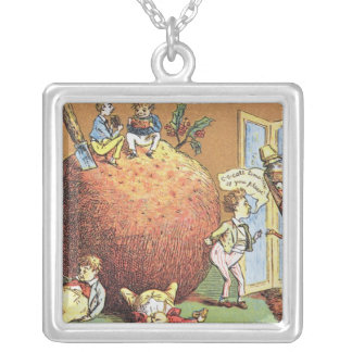 The Christmas Pudding Silver Plated Necklace