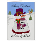 The Christmas Snowman Collection Card