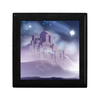 The Christmas Star of Bethlehem Illustration Gift Box
