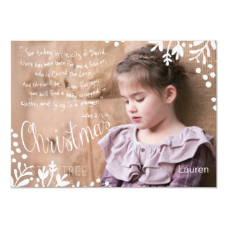 The Christmas story 5x7 double sided photocard Card