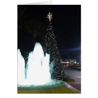 The Christmas Tree And Fountain Card
