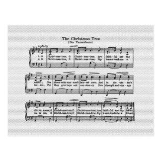 The Christmas Tree Song Postcard