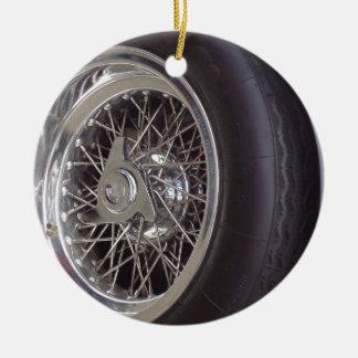 THE CHROME WHEEL CERAMIC ORNAMENT