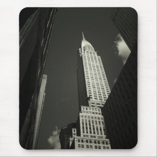 The Chrysler Building in Black and White Mouse Pad
