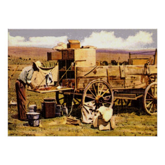The Chuck wagon Poster