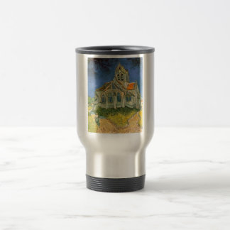 The Church at Auver by Vincent Van Gogh Travel Mug