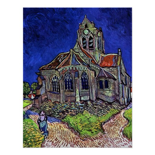 The Church at Auvers by Vincent van Gogh 1890 Print