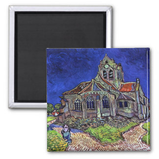 The Church at Auvers by Vincent van Gogh 1890 Square Magnet