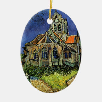 The Church at Auvers by Vincent van Gogh Ceramic Oval Decoration